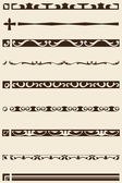 Great boarder set — Stock Vector