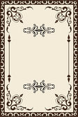 Ornate baroque page — Stock Vector