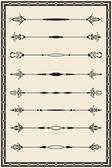 Rococo book lines — Stock Vector