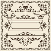 Victorian nice set — Stock Vector