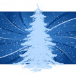 Background with Christmas tree — Stock Vector #12005646