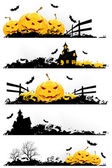 Grunge Halloween Banner — Stock Vector