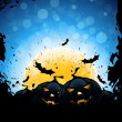Grunge Halloween Party Background — Stock Vector