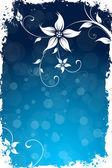 Grungy çiçek arka plan — Stok Vektör