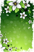 Grungy Flower Background — Stock Vector