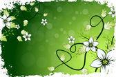 Fundo flor grungy — Vetorial Stock