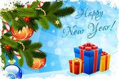 Gelukkig nieuwjaar wenskaart — Stockvector