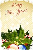 Auguri di felice anno nuovo — Vettoriale Stock