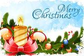 Grungy Christmas Card — Stock Vector