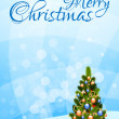 Merry Christmas Greeting Card — Stock Vector #13864790