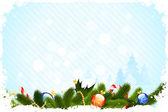 Grunge weihnachtskarte — Stockvektor