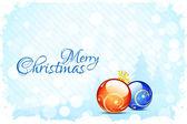Christmas Card Template — Stockvektor