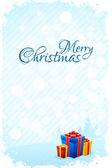 汚れたクリスマスのグリーティング カード — ストックベクタ