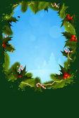 Grunge weihnachten grußkarte — Stockvektor