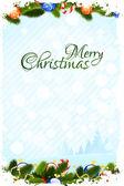 汚れたクリスマス カード — ストックベクタ
