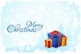 Grungy blauwe kerstkaart — Stockvector