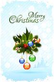 веселая рождественская открытка — Cтоковый вектор