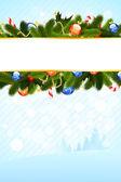 Kerstkaart sjabloon — Stockvector