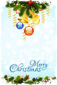 Grungy Christmas Card with Decorations — Stock Vector