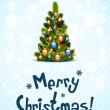Merry Christmas Greeting Card — Stock Vector #15621589