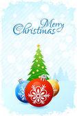Christmas Card Template — Stock Vector