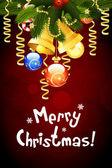 Veselé vánoční blahopřání — Stock vektor
