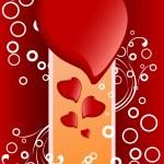 Creative Valentines Day card — Stok Vektör #1776368
