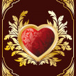 Postcard with Heart — Stock Vector #1777261