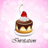 De dag van valentijnskaarten uitnodiging — Stockvector