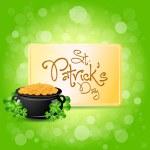 Saint Patricks Day Card Design — Stock Vector
