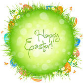 Easter Eggs in the Grass — Vector de stock