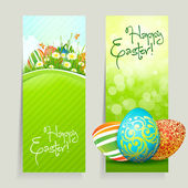 Set of Easter Cards with Eggs — Stock Vector