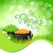 St. Patricks Day Background — Stock Vector