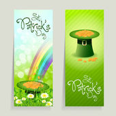 Set of St. Patricks Day Cards — 图库矢量图片