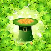St. patricks dzień karta z kapelusz kobold — Wektor stockowy