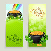 Set of St. Patricks Day Cards — Stock Vector