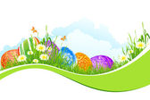 Beautiful Easter Holiday Background — Stock Vector