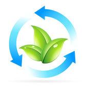Logo doğa geri dönüşüm — Stok Vektör