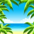 Summer Vacation Background - Stock Vector