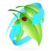 Grüne blätter-symbol — Stockvektor