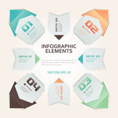 Modern Origami Style Infographic Illustration — Stock Vector