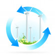 Renewable Energy Icon — Stock Vector