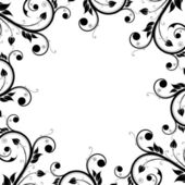 Floral Design Ornament Frame — Vecteur