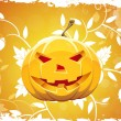 Halloween Background with Pumpkin — Stock Vector #30947517