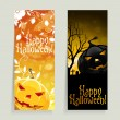 Set of Halloween Banners — Vettoriali Stock