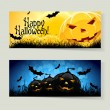 Stock Vector: Set of Halloween Banners