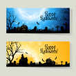 Set of Halloween Banners — Stock Vector #33301155