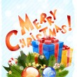 Merry Christmas Greeting Card — Stock Vector #34909677