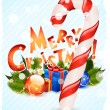 Merry Christmas Greeting Card — Stock Vector
