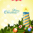 Merry Christmas Greeting Card — Imagen vectorial
